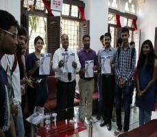 B.Voc Media and Communication has started a News Letter called Paprefe. Its first edition has been inaugurated by our Principal Sir D.G Paredeshi.