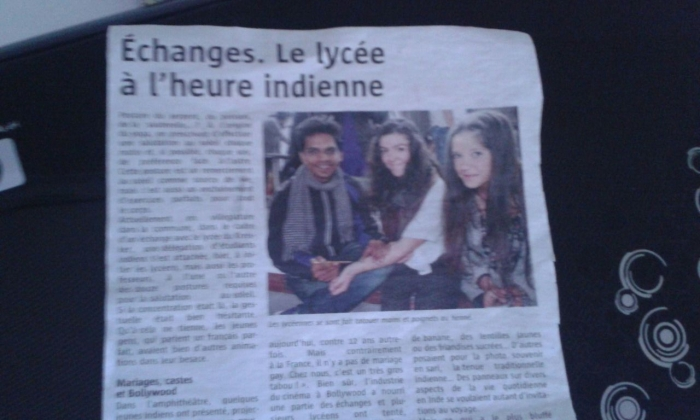 Article in French newspaper